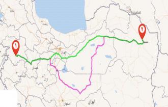 حمل بار اثاثیه باربری مشهد سنندج کردستان70% تخفیف خاور نیسان